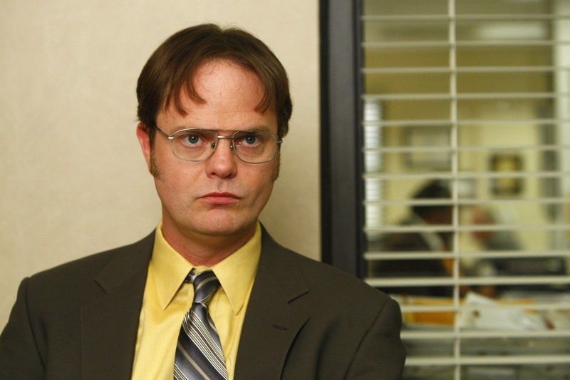 """difficult people metaphor of Dwight from the show """"The Office"""" staring at camera"""